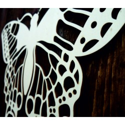 XLL 1100 X 647 mm Night butterfly carved from LEOPARTID wood plywood